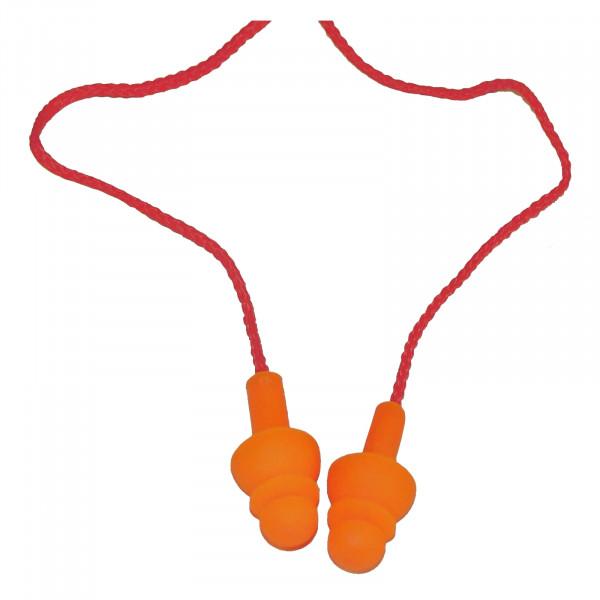 Gehörschutz-Stöpsel + Verbindungskordel EN352-2 / Paar