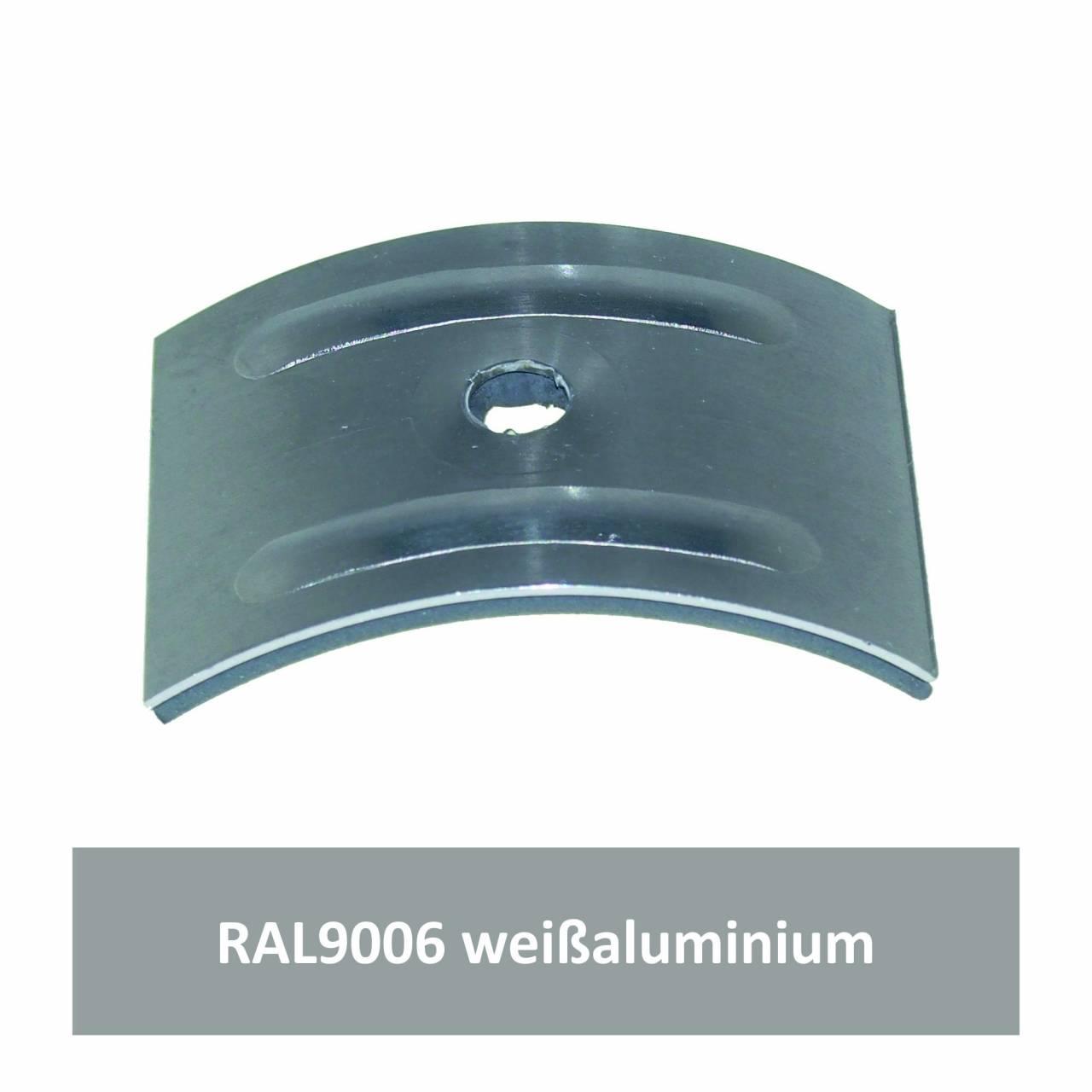 Kalotten für Welle 177/51, Alu RAL9006 weißaluminium / Pck a 100 Stück