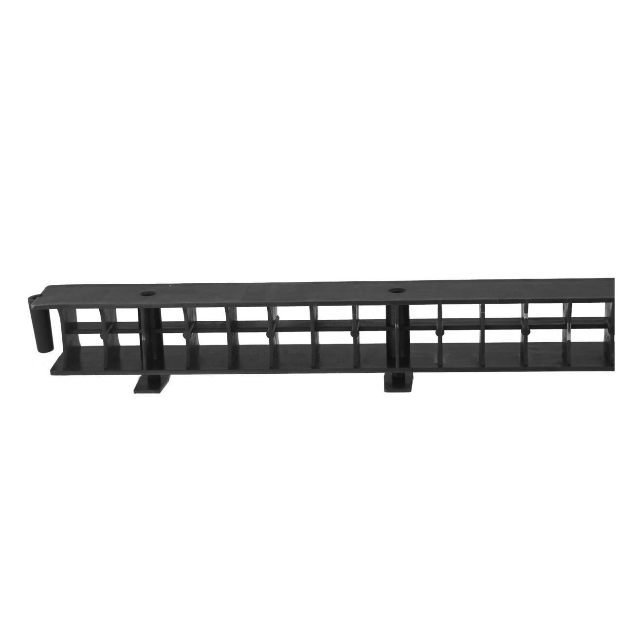 Traufelement ohne Kamm, 1,0 m, schwarz / Pck a 10 Stück