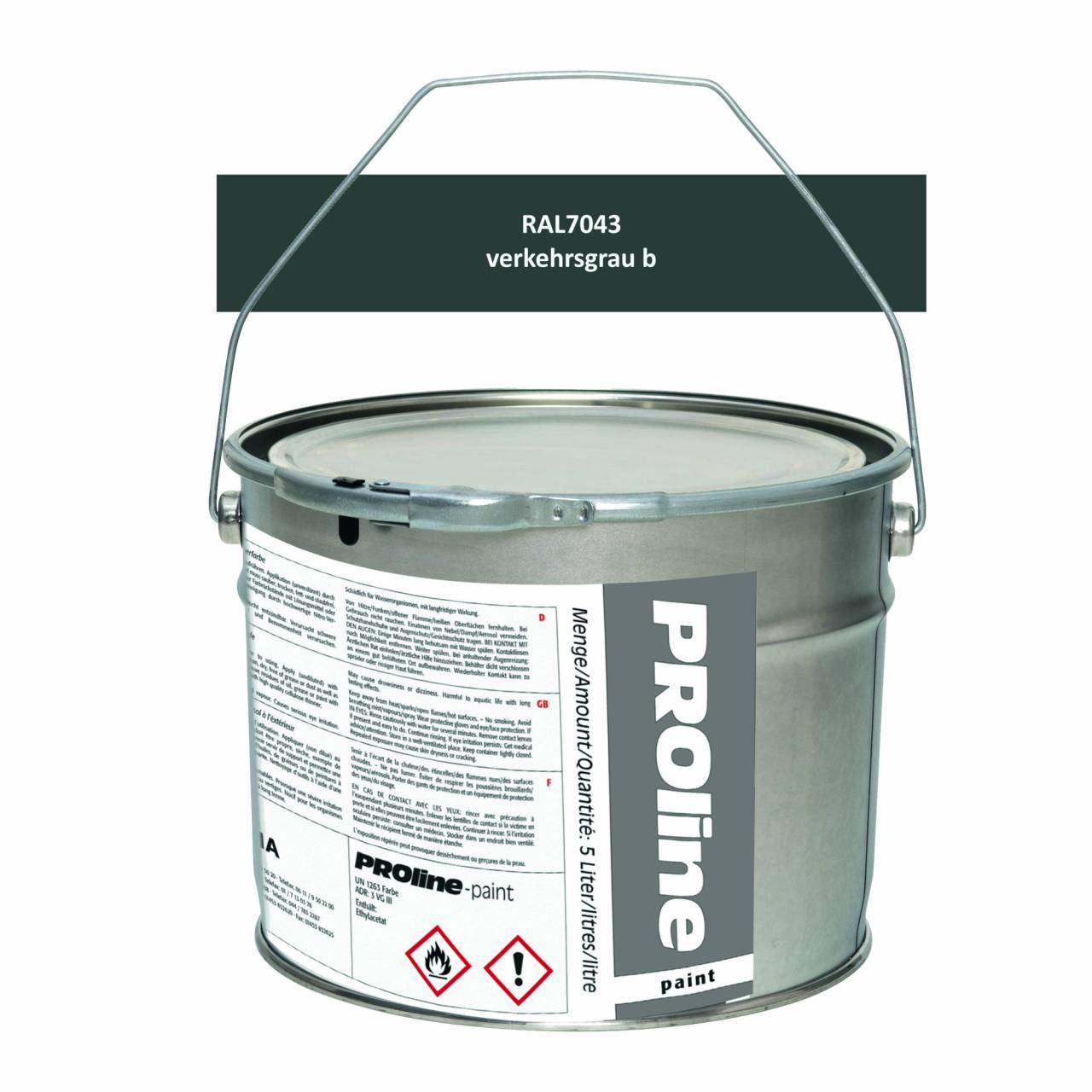 Aussen-Markierfarbe 'PROline-paint' GRAU / Eimer a 5,0 Liter