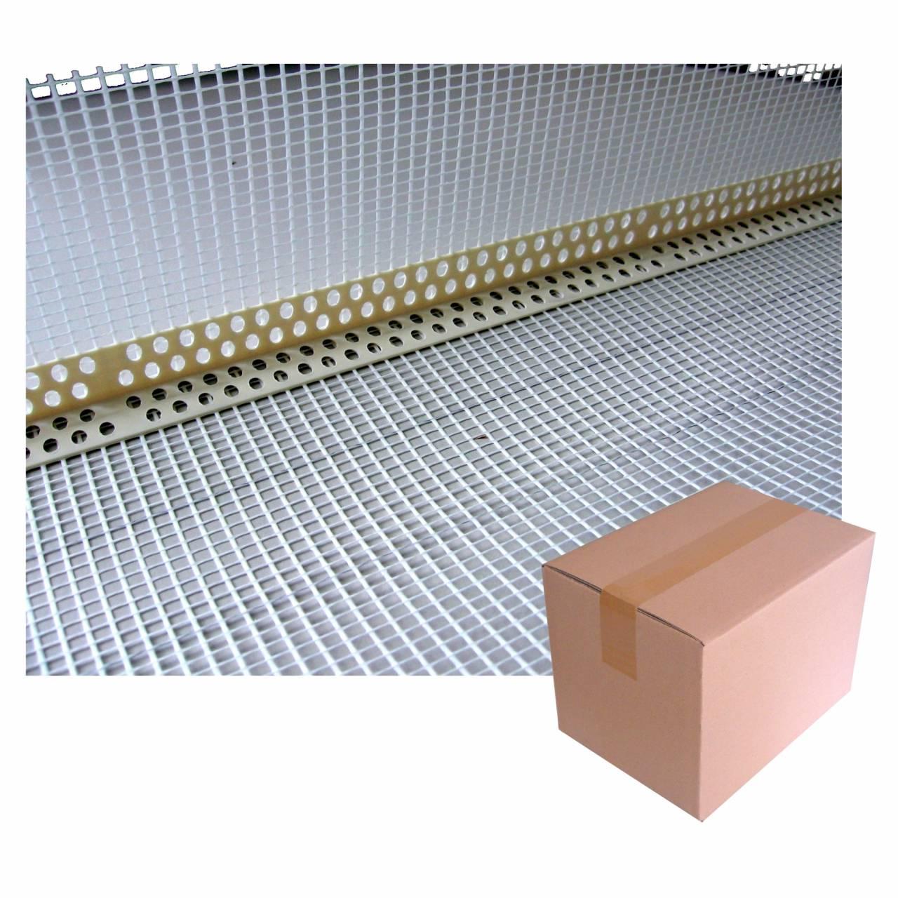 PVC-Eckwinkel 2,5 m, 80x120 Gewebe weiss / Krt a 250 lfm