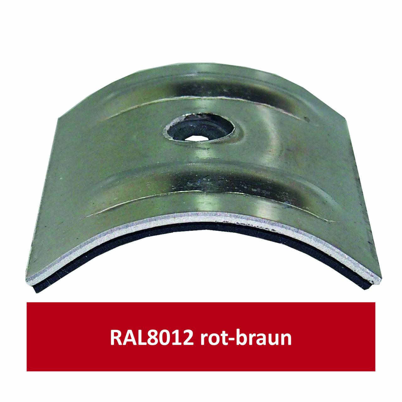 Kalotten für Welle 18/76, Alu RAL8012 rotbraun/ Pck a 100 Stück