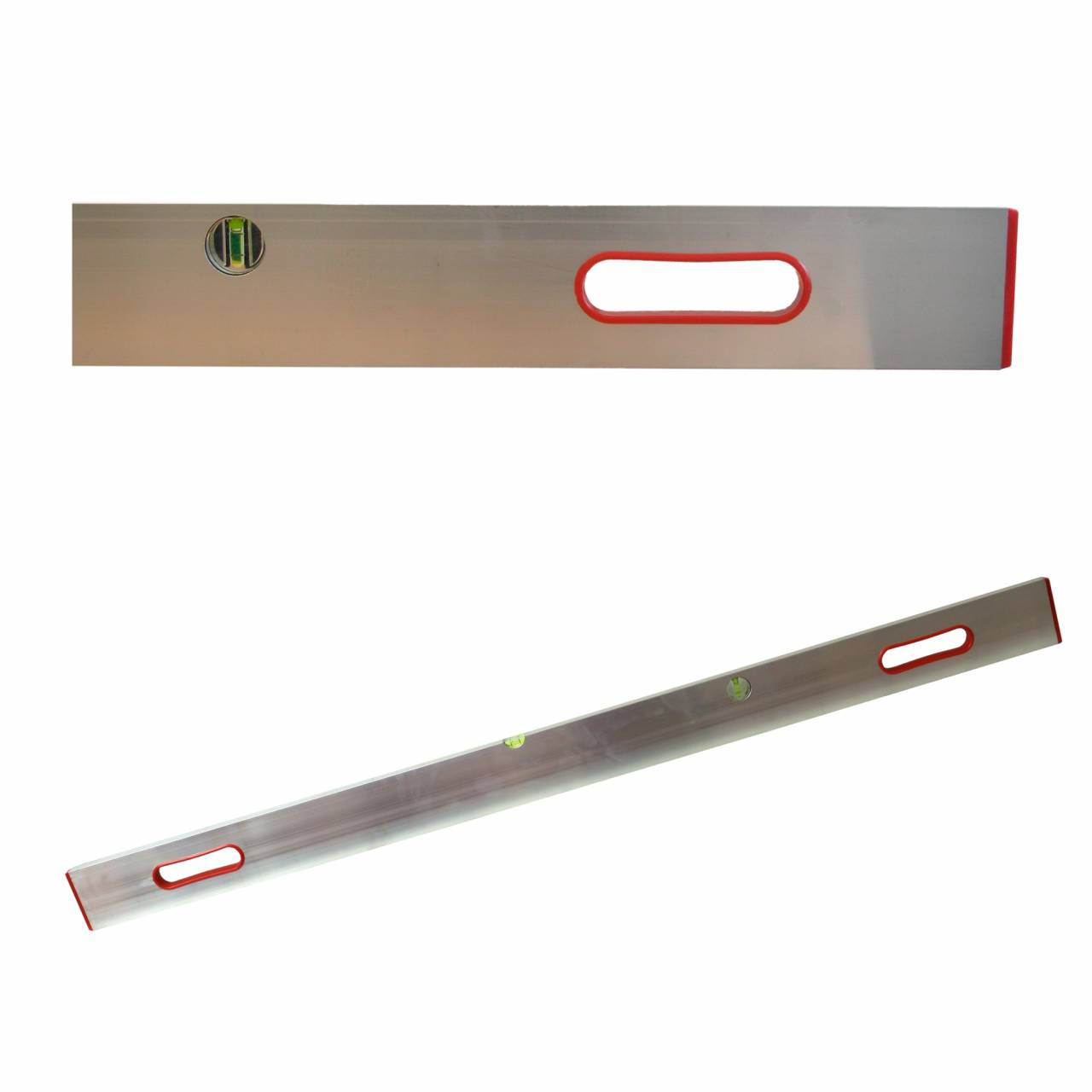 Richt- / Messlatte 300 cm, Aluprofil mit 2 Libellen + 2 Handgriffen