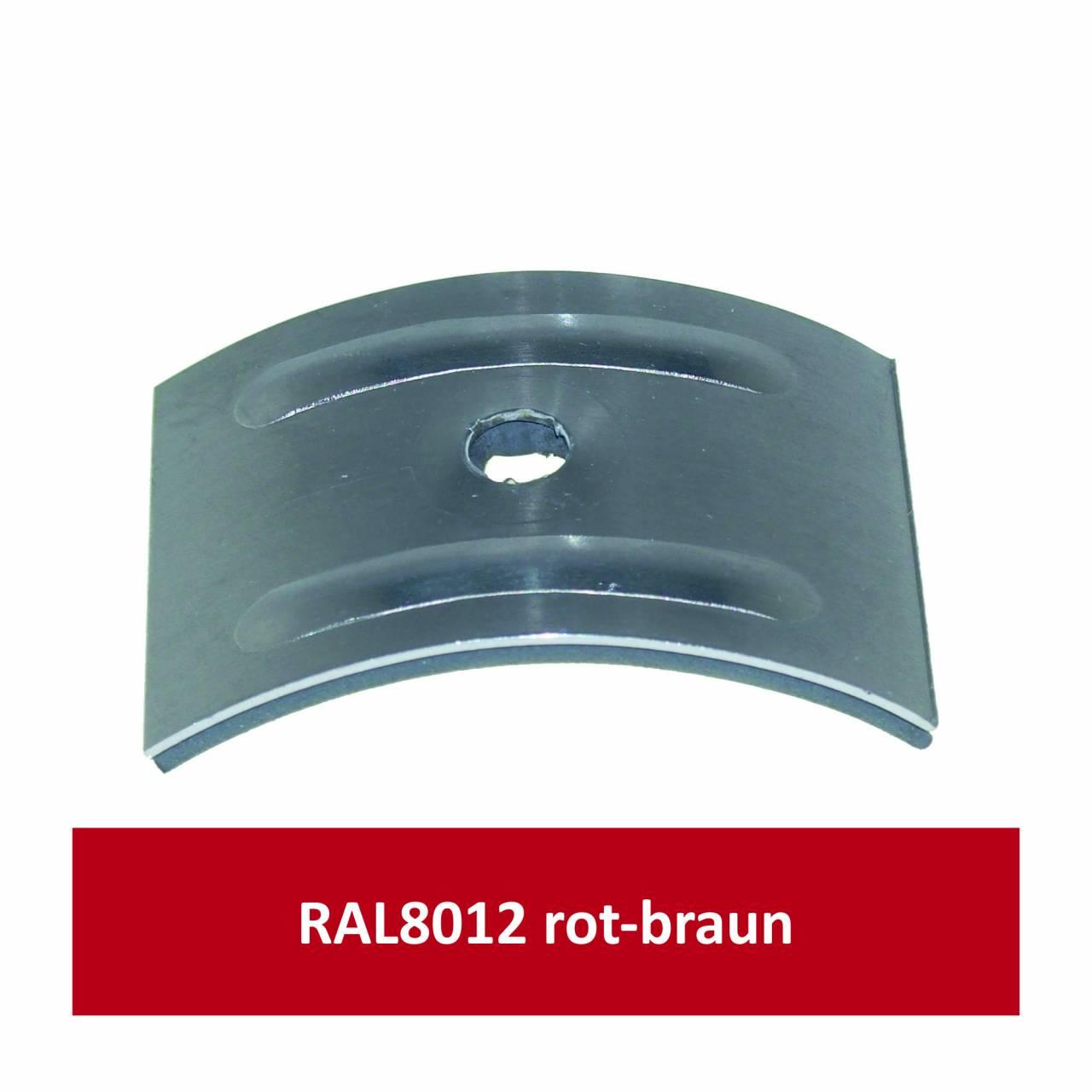 Kalotten für Welle 177/51, Alu RAL8012 rotbraun/ Pck a 100 Stück