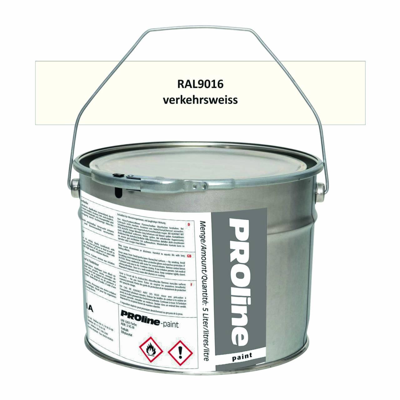 Antirutsch-Markierfarbe 'PROline-paint' WEISS / Eimer a 5,0 Liter