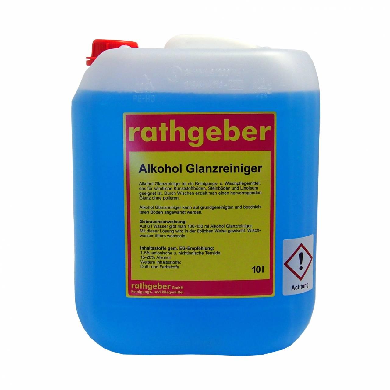 Alkohol-Glanzreiniger 10,0 L PE-Kanister