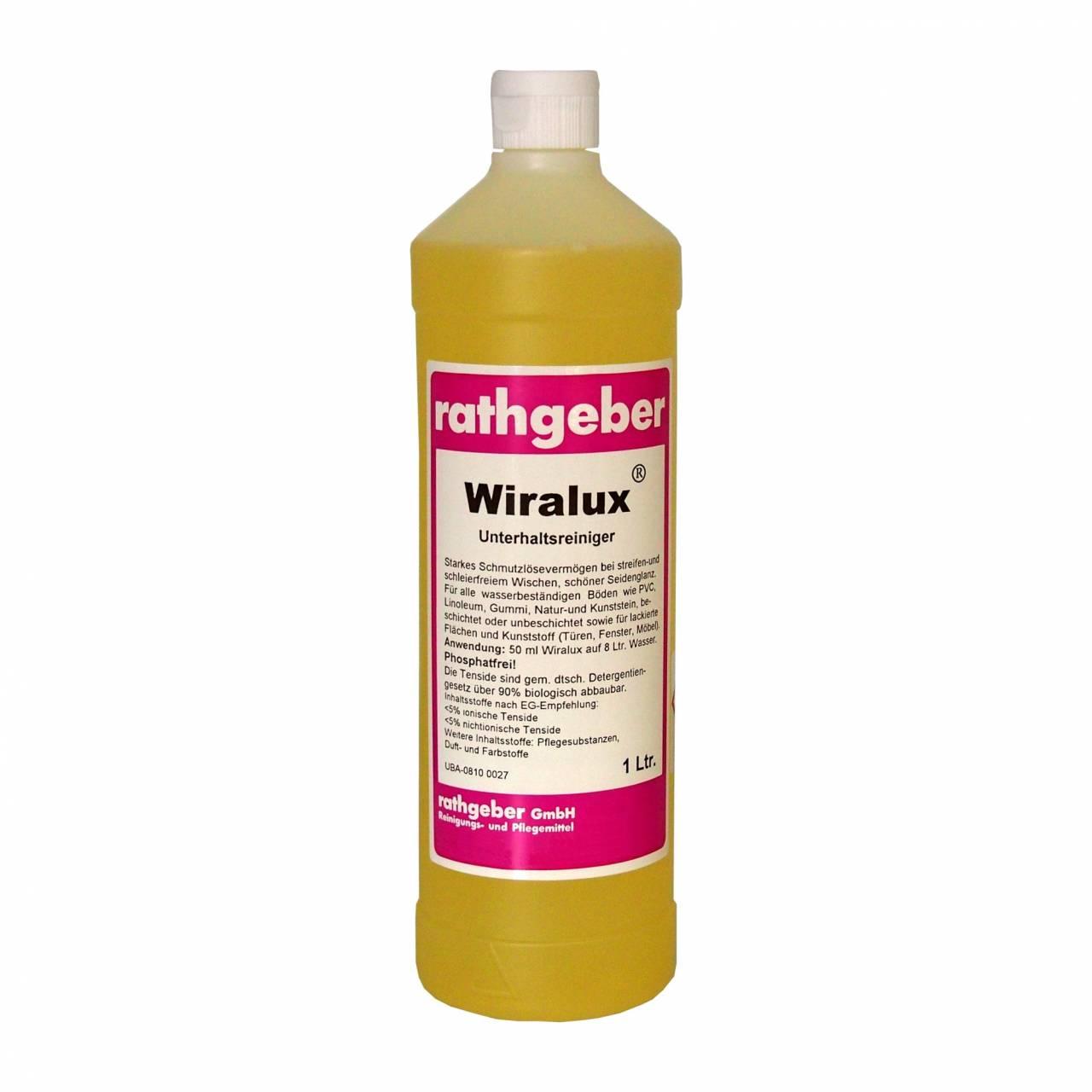 Unterhaltsreiniger 'Wiralux©' 1,0 L PET-Flasche