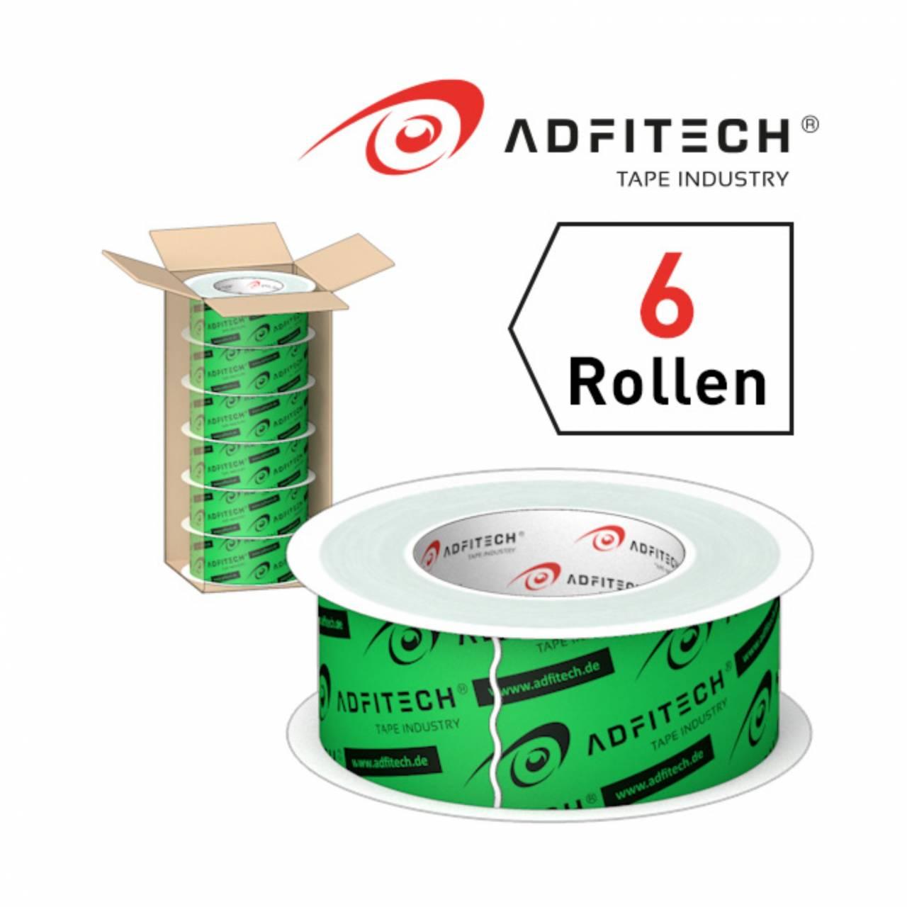 Adfitech Dichtklebeband 'AT210' 60 mm x 25 lfm / Krt a 6 Rollen