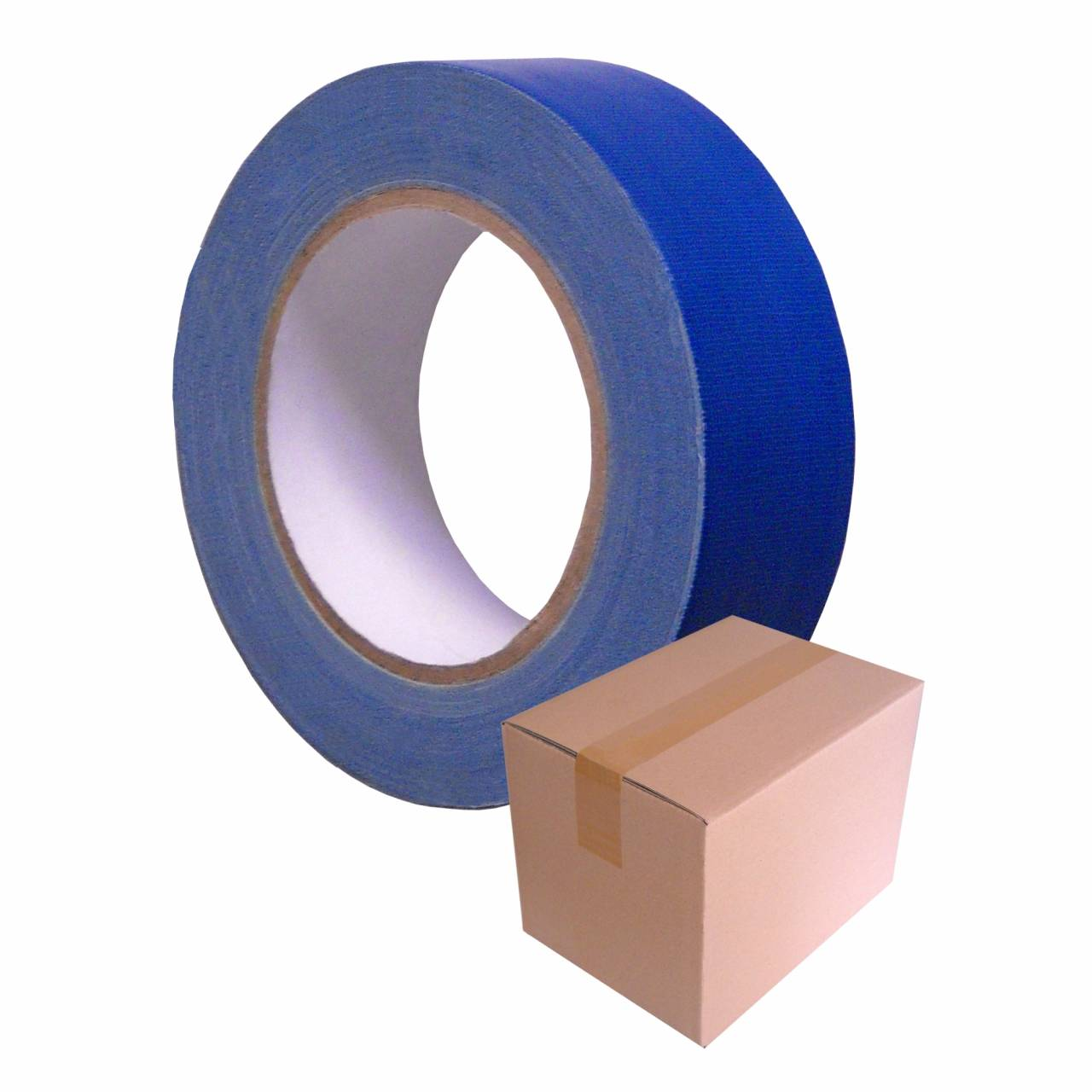 Gewebe-Klebeband T104 UV-blau, 50 mm x 25 m / Krt a 24 Rollen