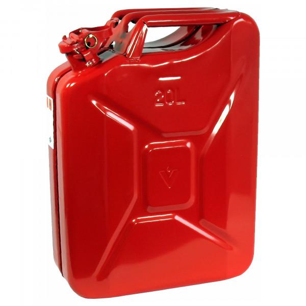 Benzinkanister 20 Liter, Rot, TÜV/GS/UN-Zulassung