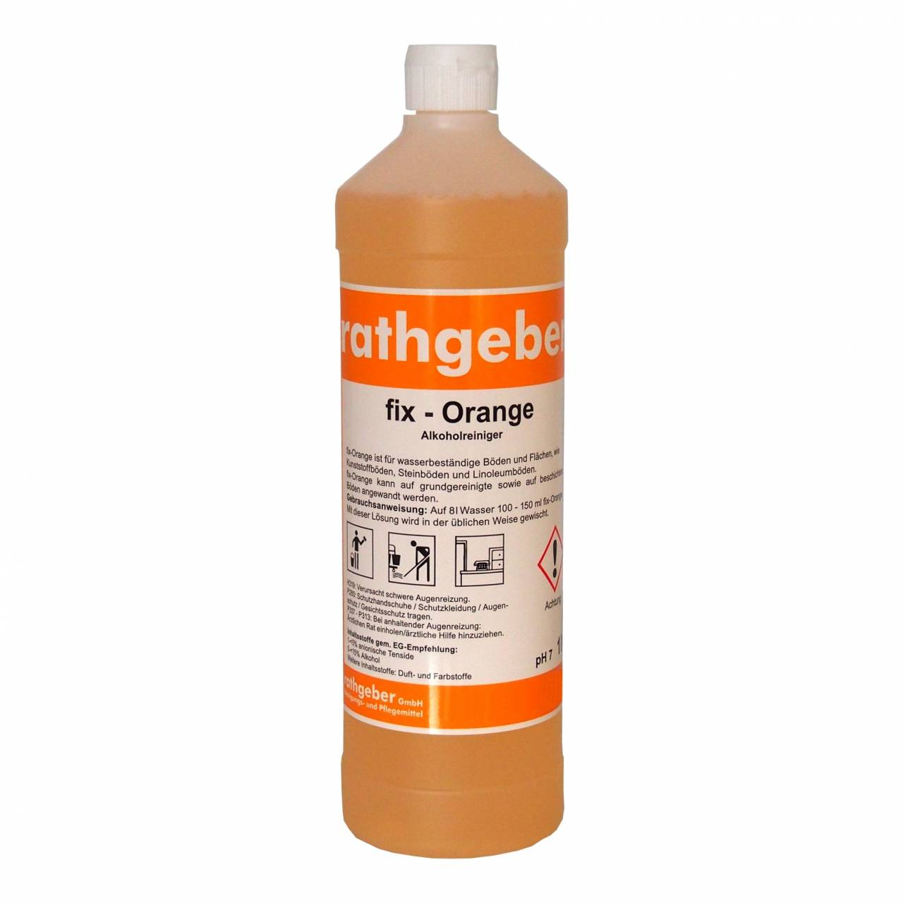 Alkoholreiniger 'fix-Orange' 1,0 L PET-Flasche