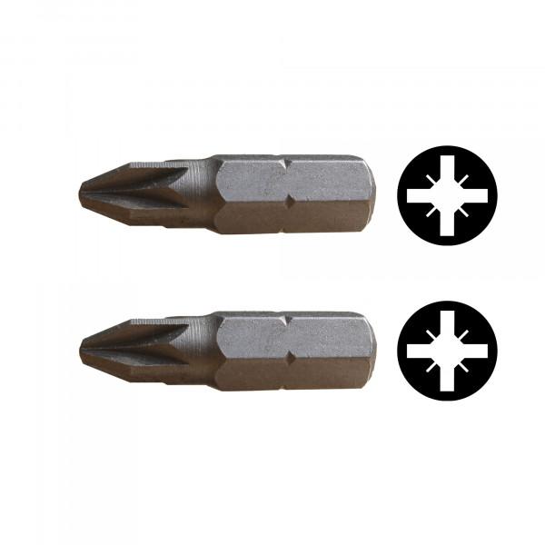 Kreuzschlitzklingen PZ 1 + 2 / Pck a 2 Stück