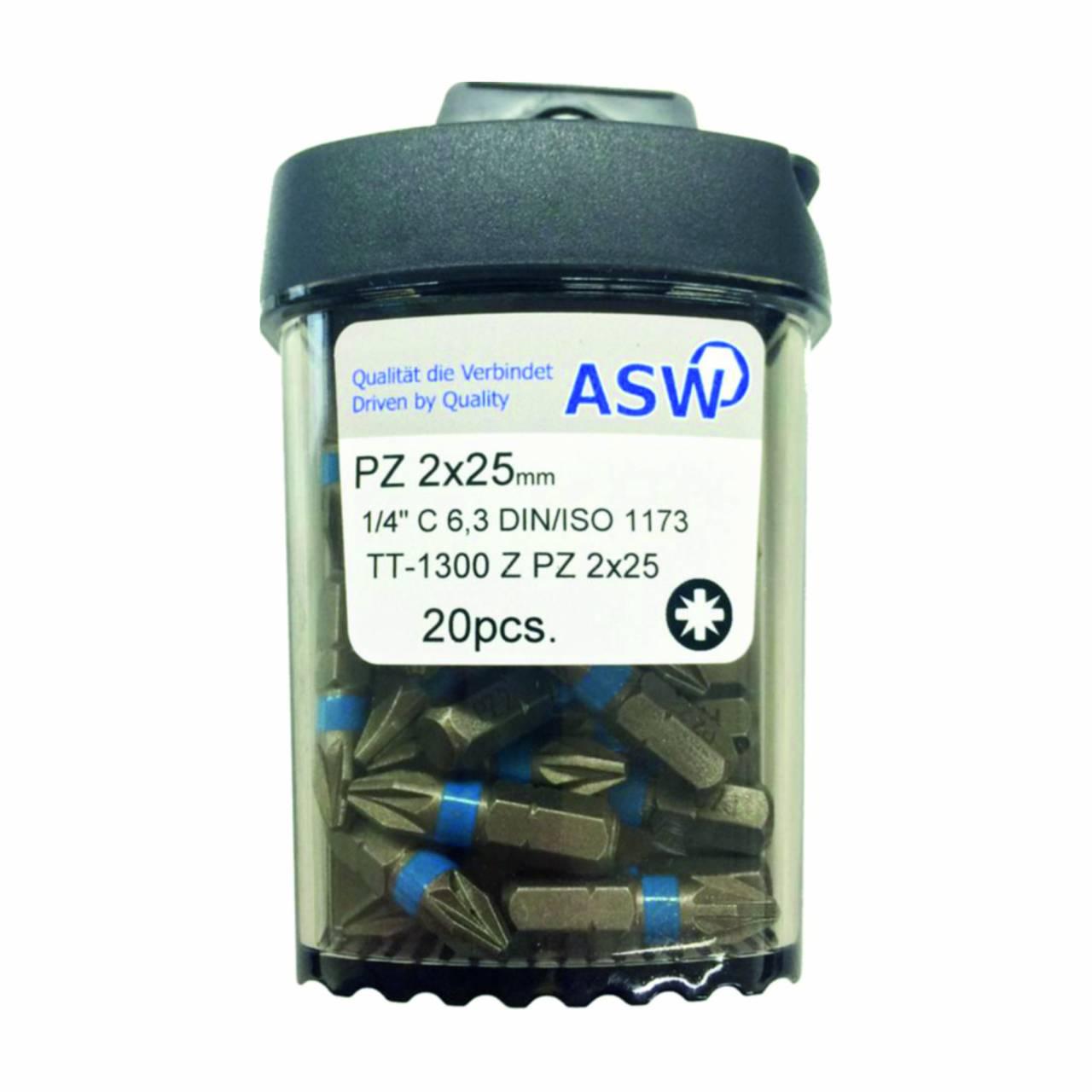 Schraubklingen / Bitbox 'ASW' PZ-2 / Dose a 20 Stück
