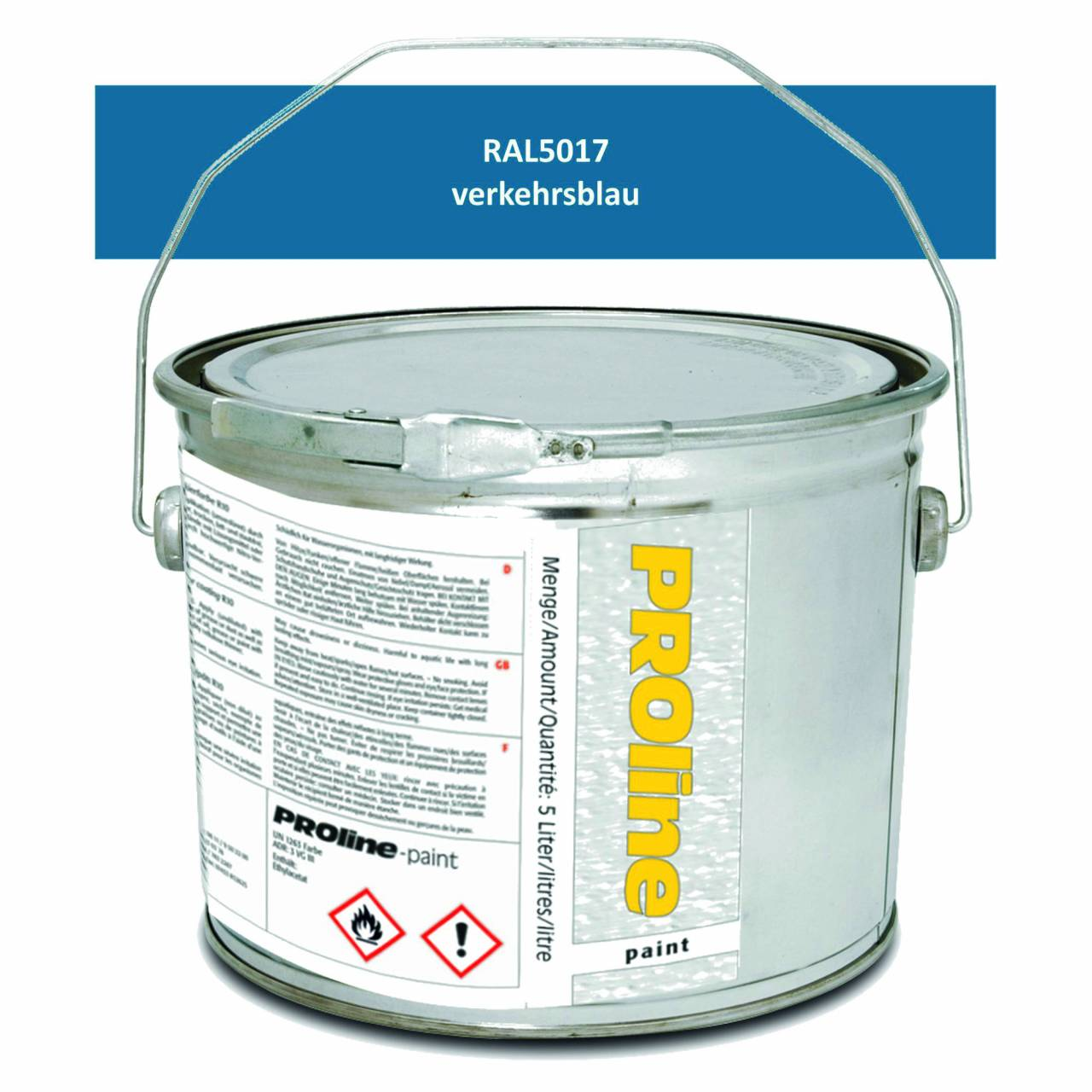 Antirutsch-Markierfarbe 'PROline-paint' BLAU / Eimer a 5,0 Liter