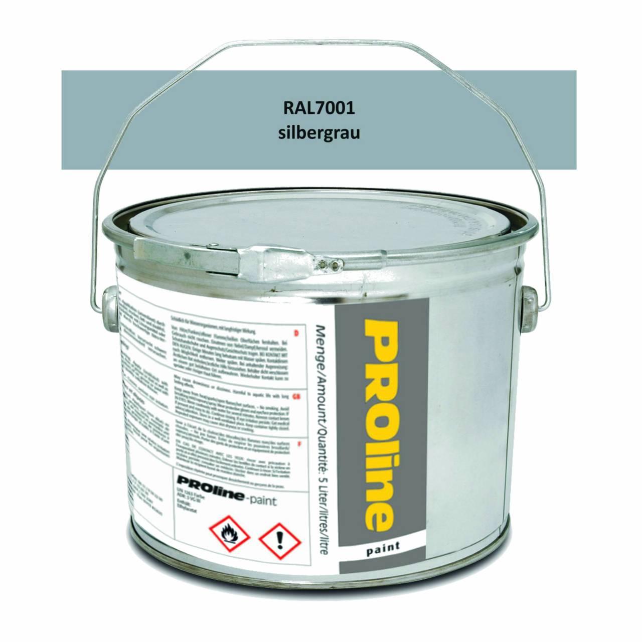 Hallen-Markierfarbe 'PROline-paint' SILBERGRAU / Eimer a 5,0 Liter