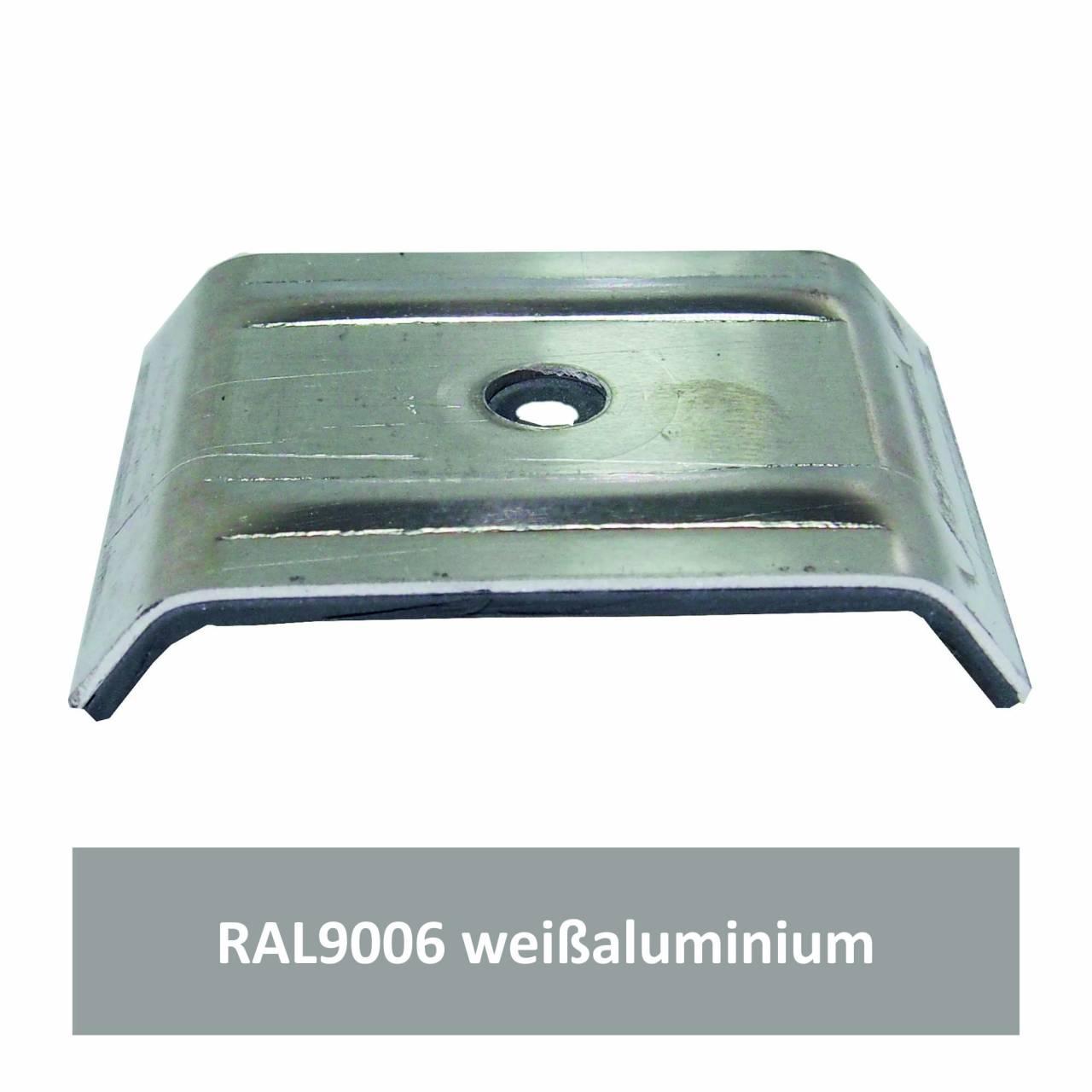 Kalotten für 35/207, Alu RAL9006 weißaluminium / Pck a 100 Stück