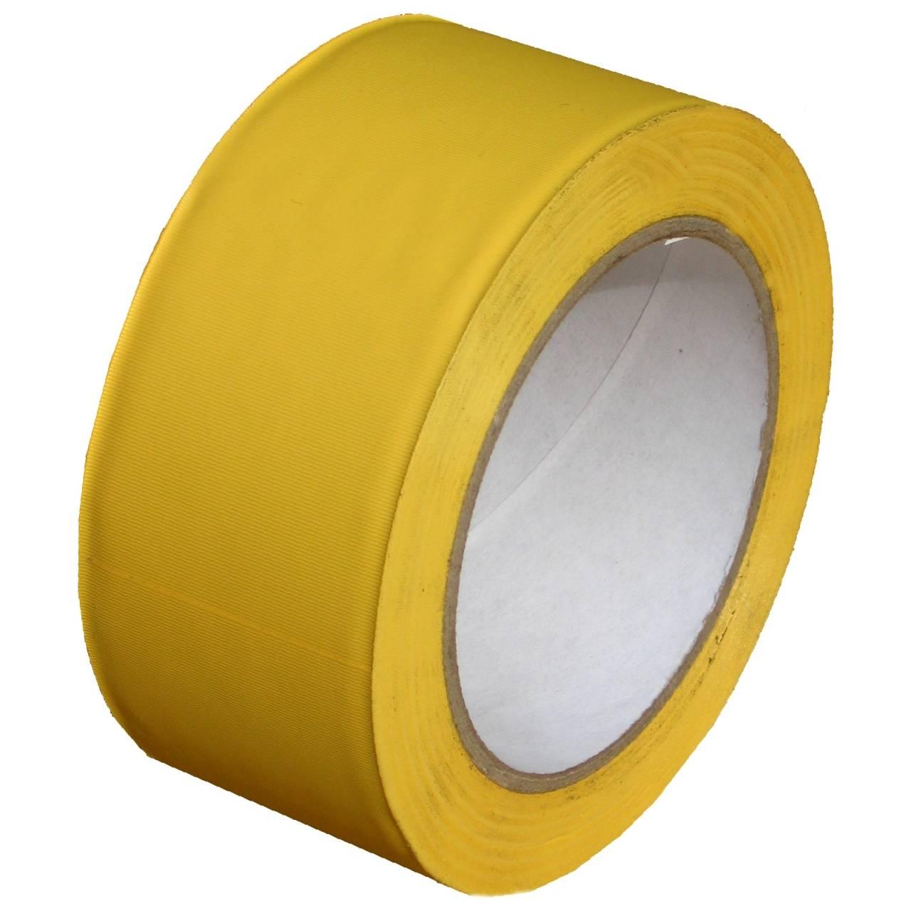PVC-Band T505 Gerillt 50 mm x 33 m gelb / Rolle