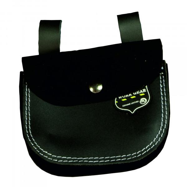 Nagel- / Werkzeugtasche, Leder, 2 Taschen + Deckel