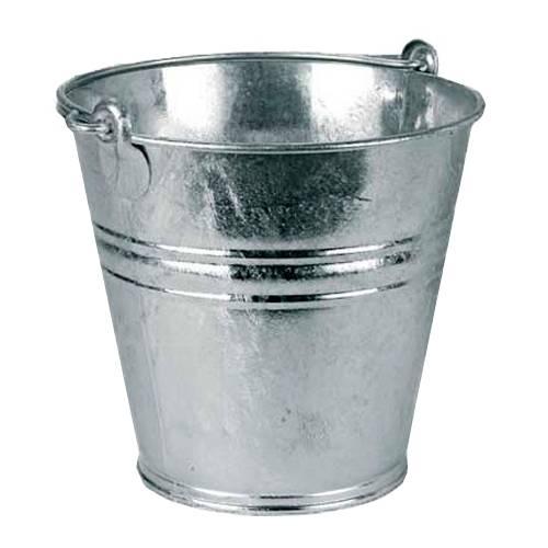 Bau-Eimer 12,0 l, Ø 28,0 cm, verzinkt, mit Metallbügel
