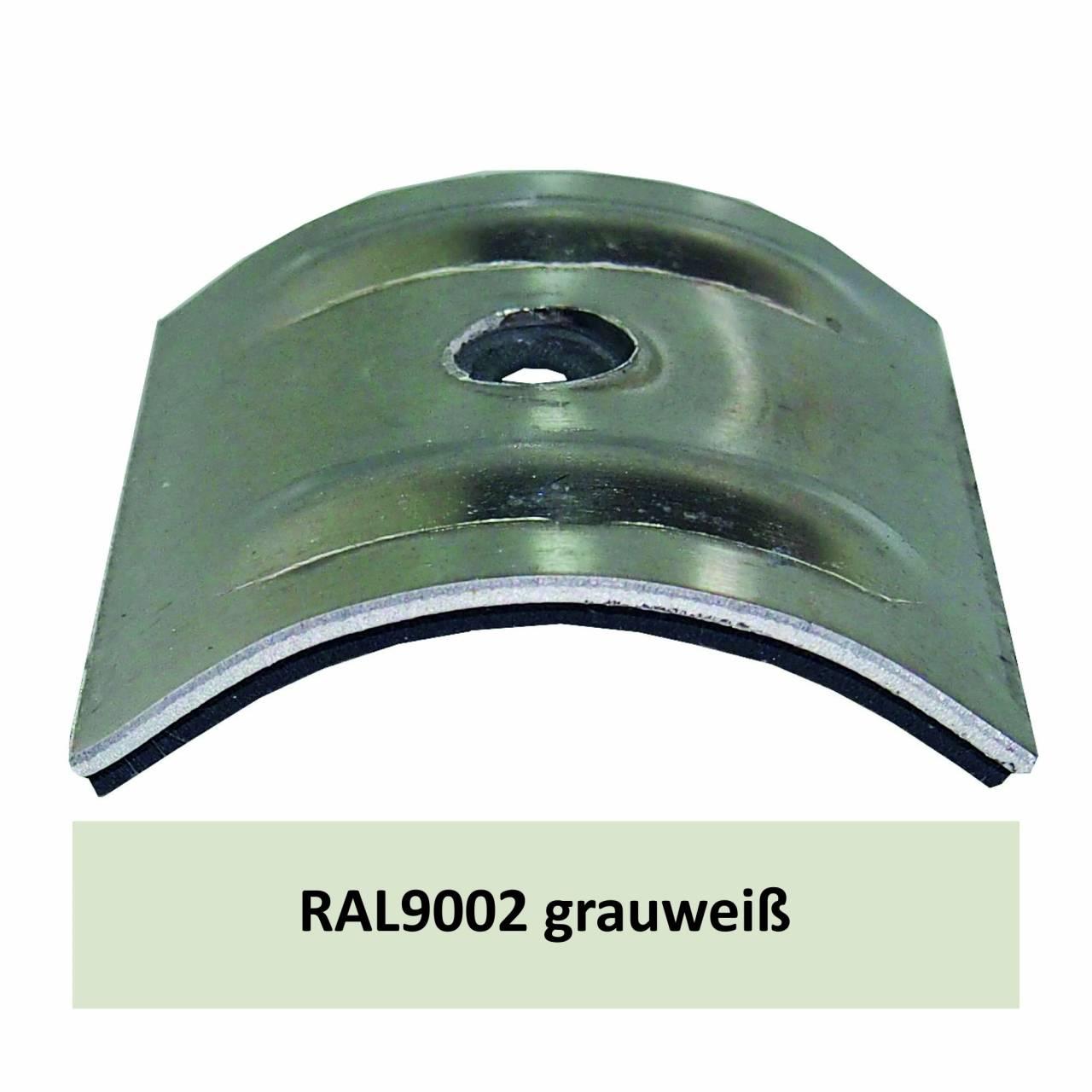 Kalotten für Welle 18/76, Alu RAL9002 grauweiß / Pck a 100 Stück