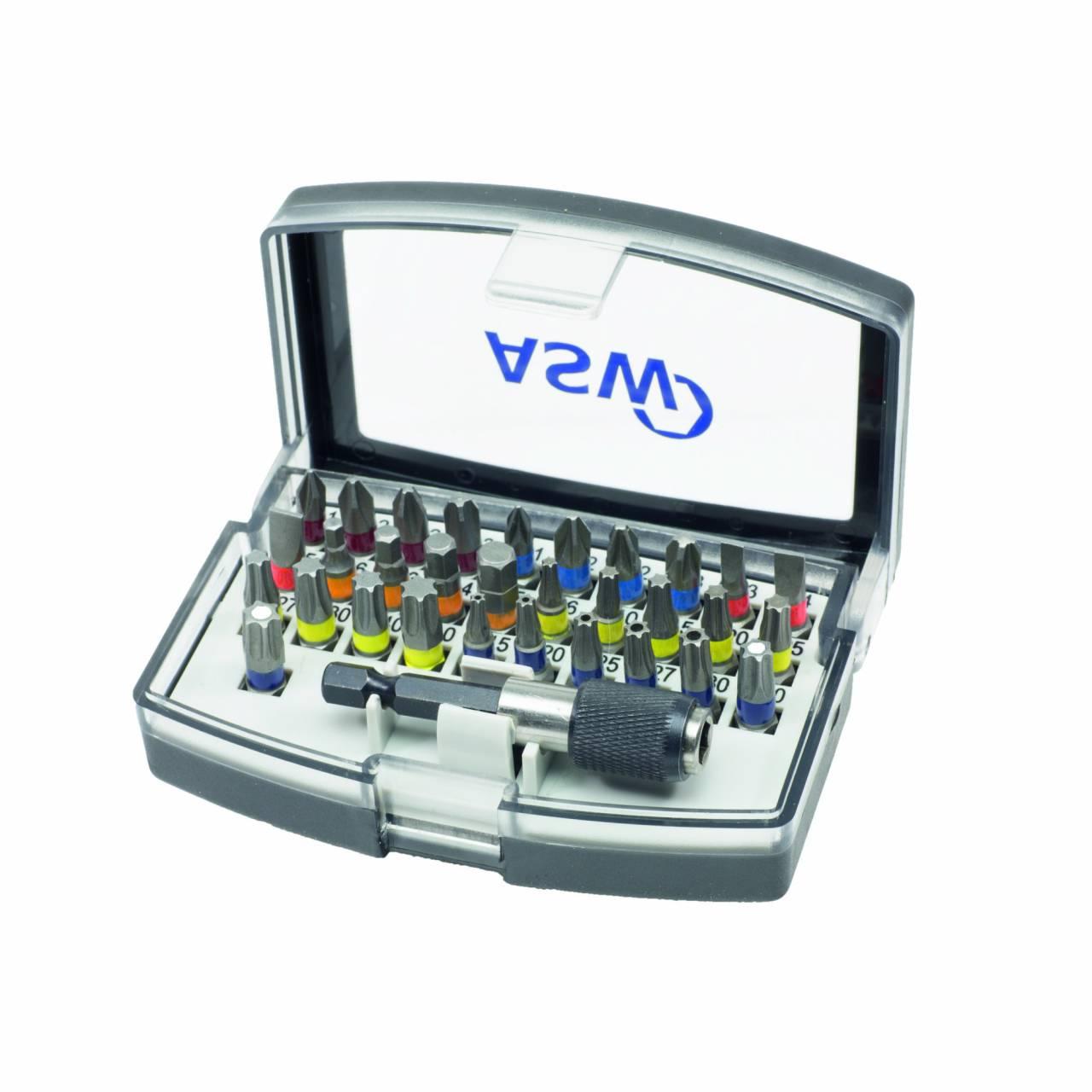 Bit-Box 'ASW' 32-teilig, Allround, inkl. Schnellwechselhalter