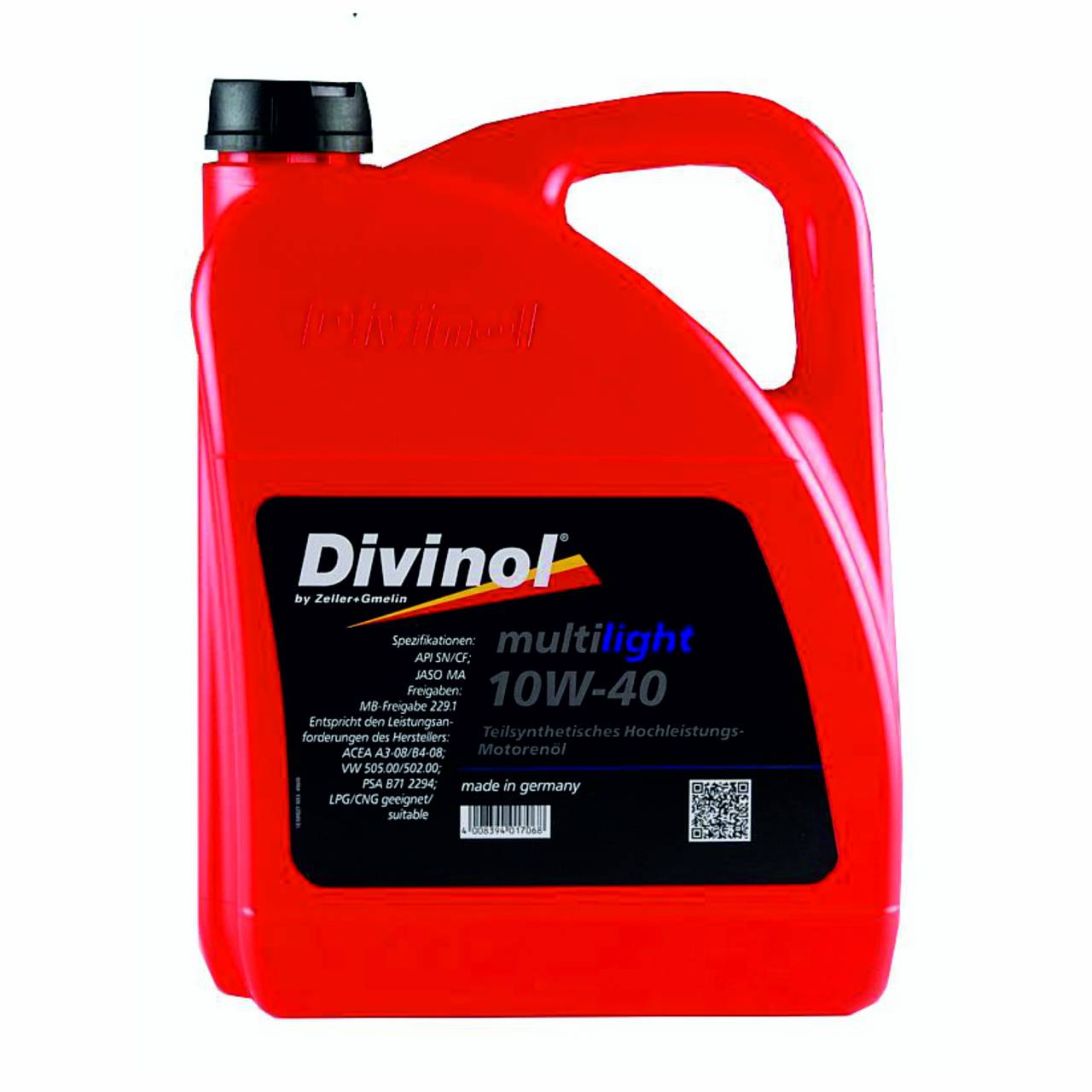 Motorenöl 'Divinol' Multilight 10W-40 / 5,0 Liter Kanister