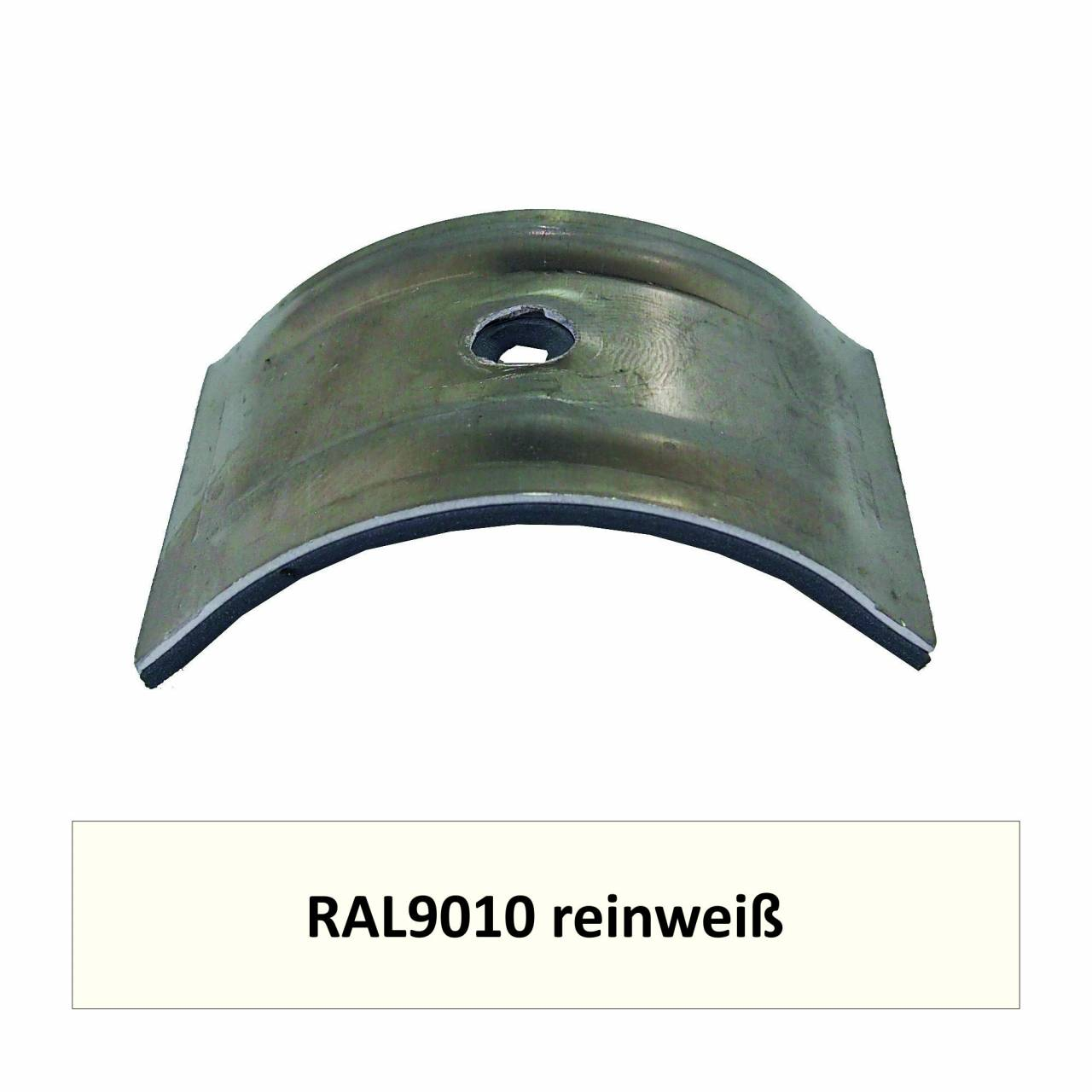 Kalotten für Welle 150/50, Alu RAL9010 reinweiß / Pck a 100 Stück