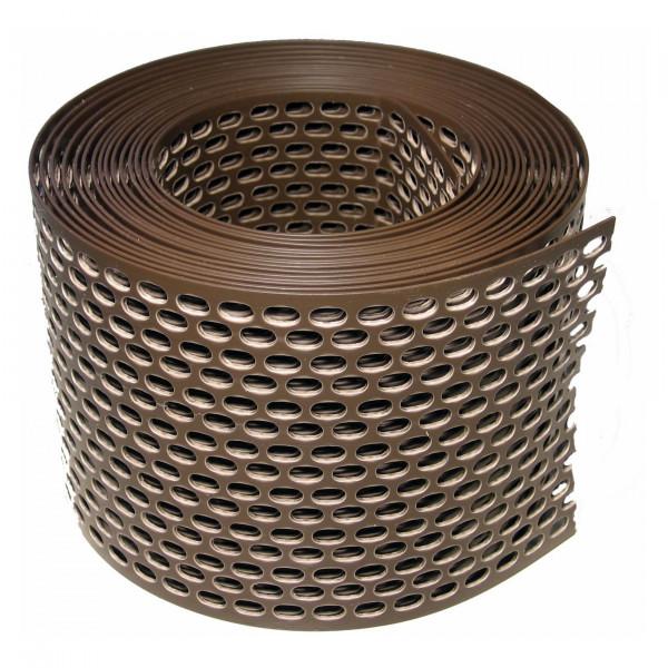 Traufgitter 150 mm braun / Rolle a 5 lfm