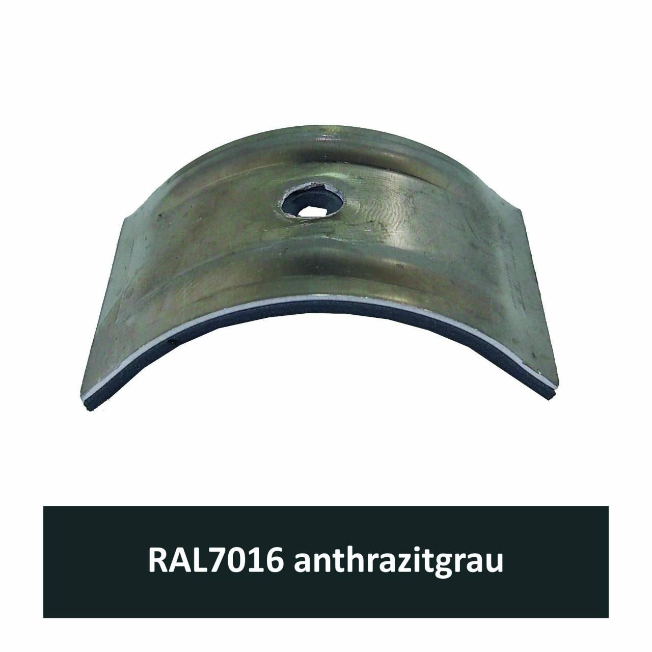 Kalotten für Welle 150/50, Alu RAL7016 anthrazitgrau / Pck a 100 Stück
