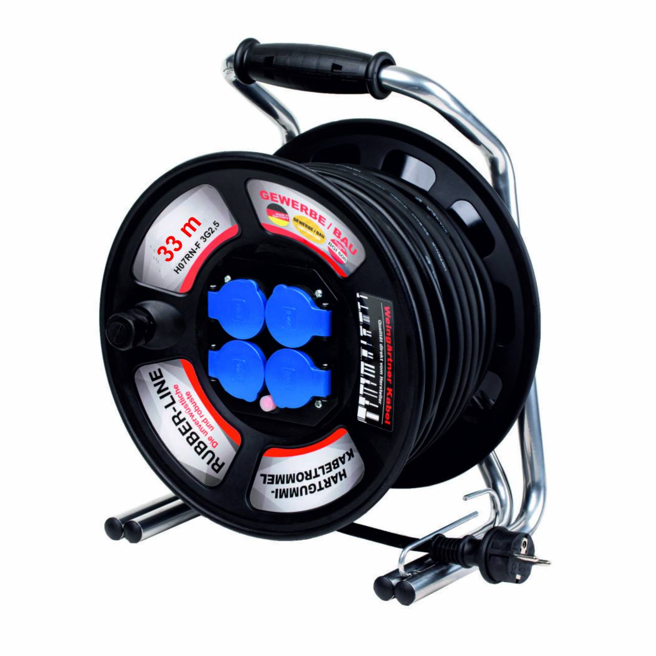 Kabeltrommel 'Rubber-Line 40179' 230V, H07RN-F 3G2,5 / 33 m