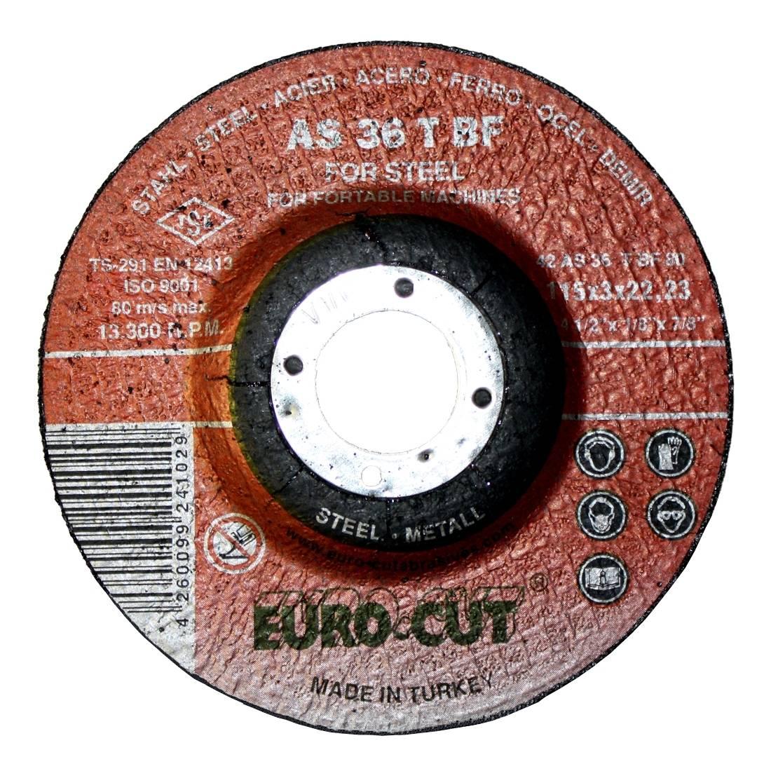 Metall-Trennscheibe 'Euro Cut' 125 x 22,2 x 2,5 mm, gekröpft