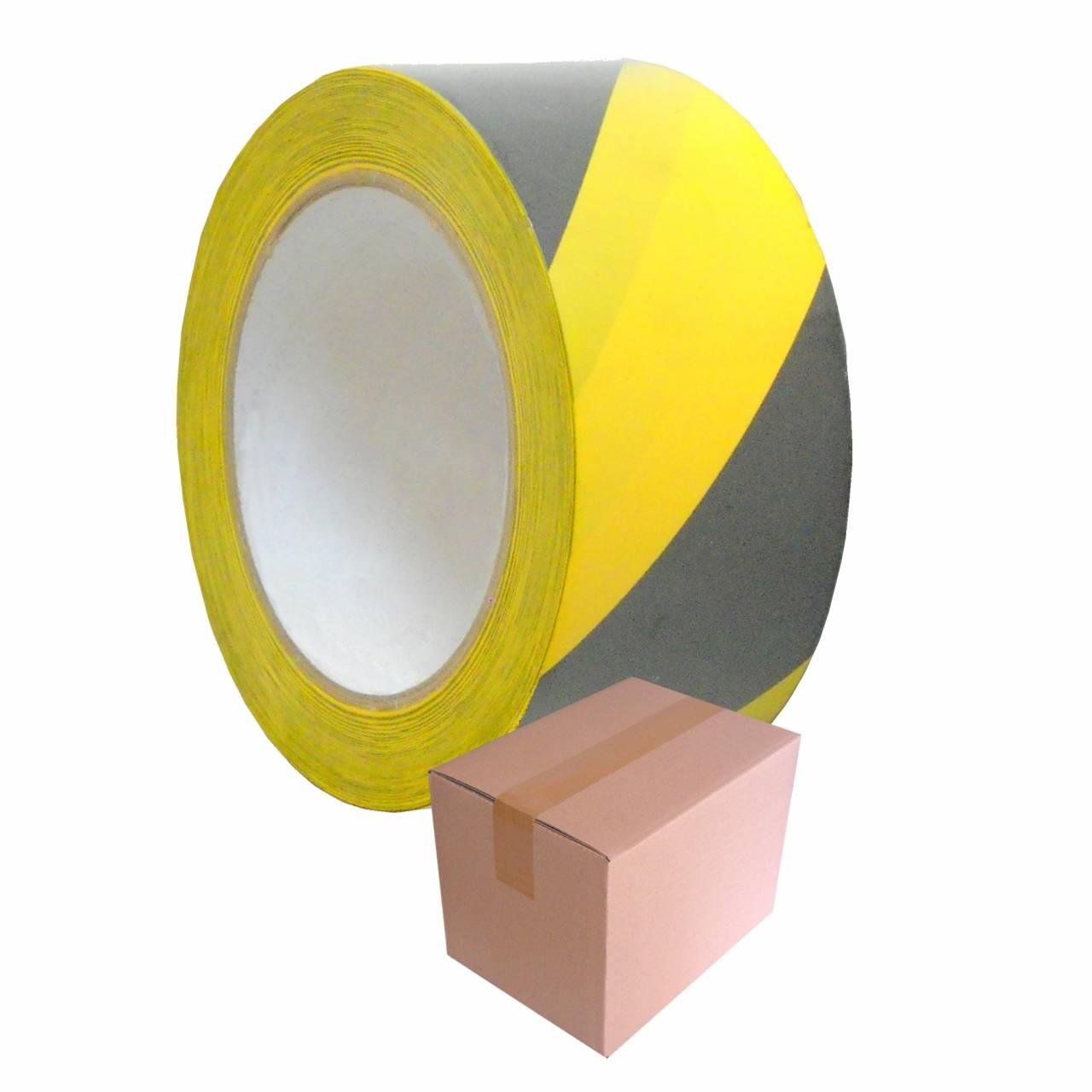 Warnband T105 schwarz-gelb 50 mm x 33 m / Krt a 36 Rollen