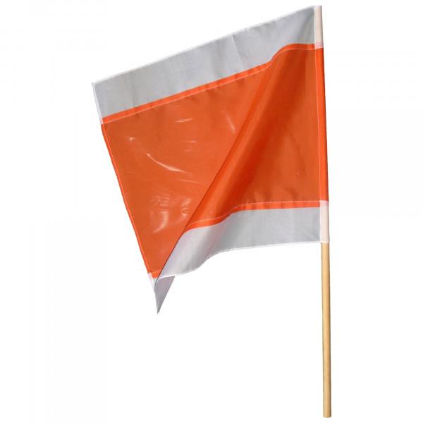 Warnflagge 500 x 500 mm, weiss-rot-weiss