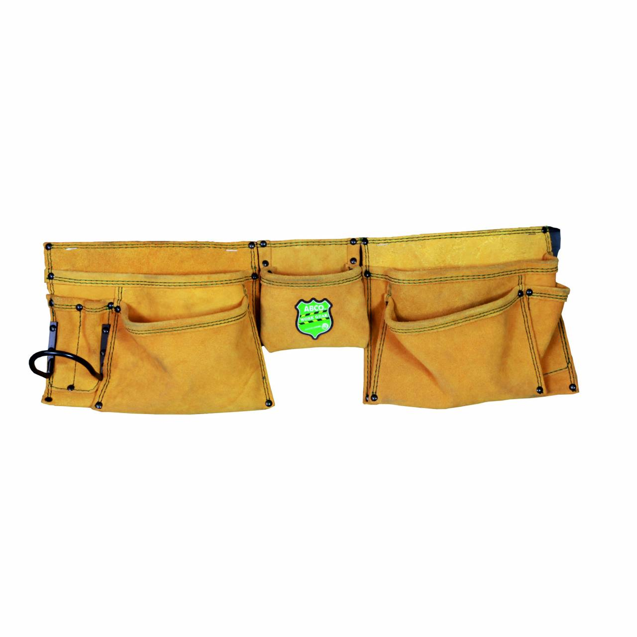 Nagel- / Werkzeugschürze, Leder, 8 Taschen, 1 Halter, Gürtel