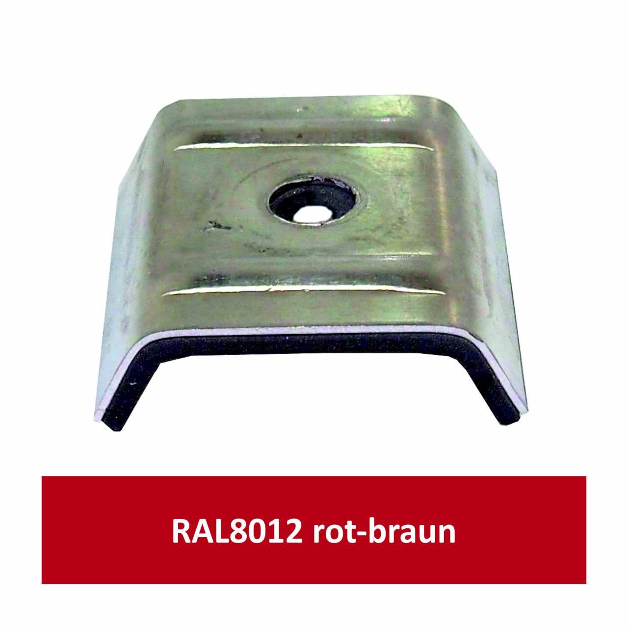 Kalotten für N1000T, Alu RAL8012 rotbraun/ Pck a 100 Stück