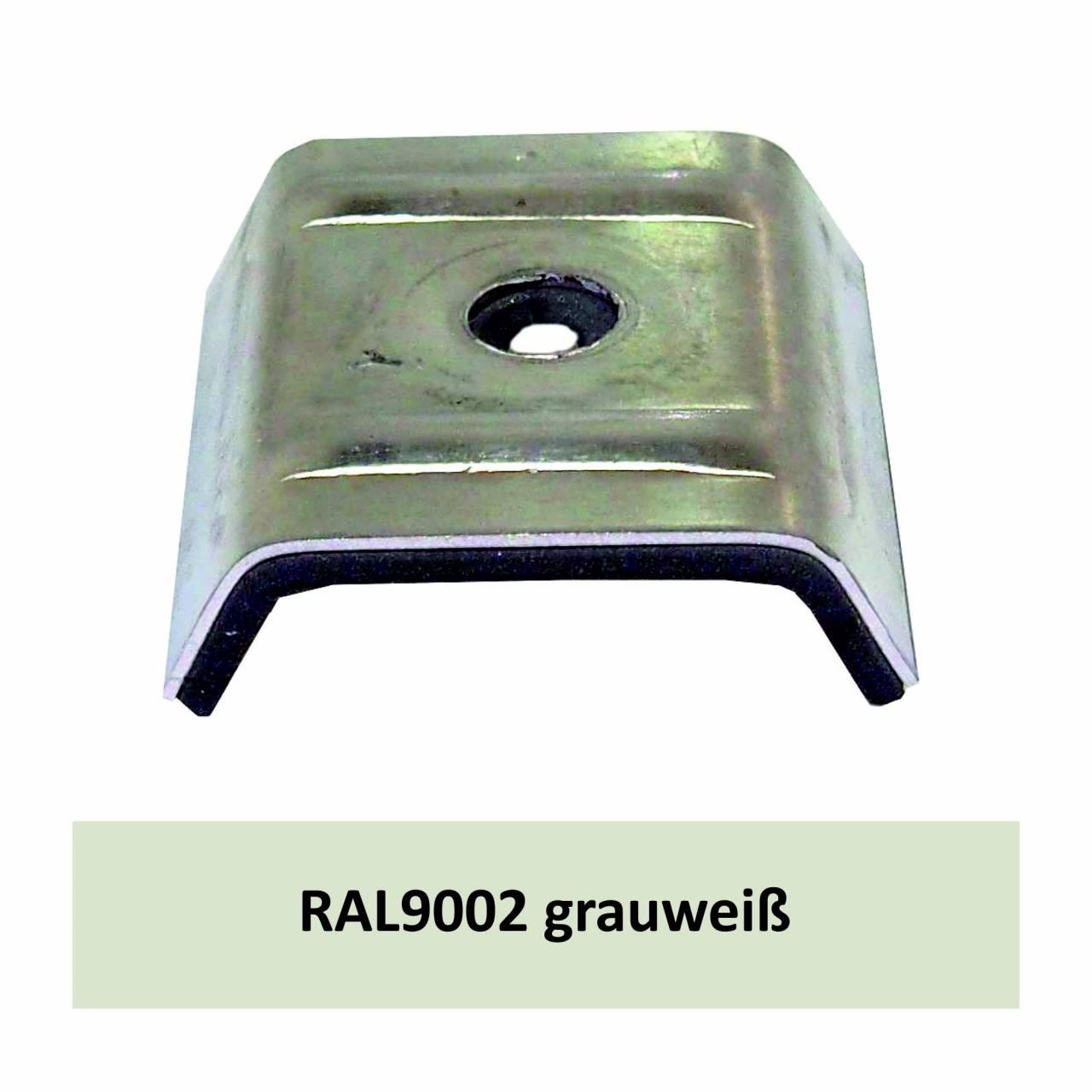 Kalotten für N1000T, Alu RAL9002 grauweiß / Pck a 100 Stück