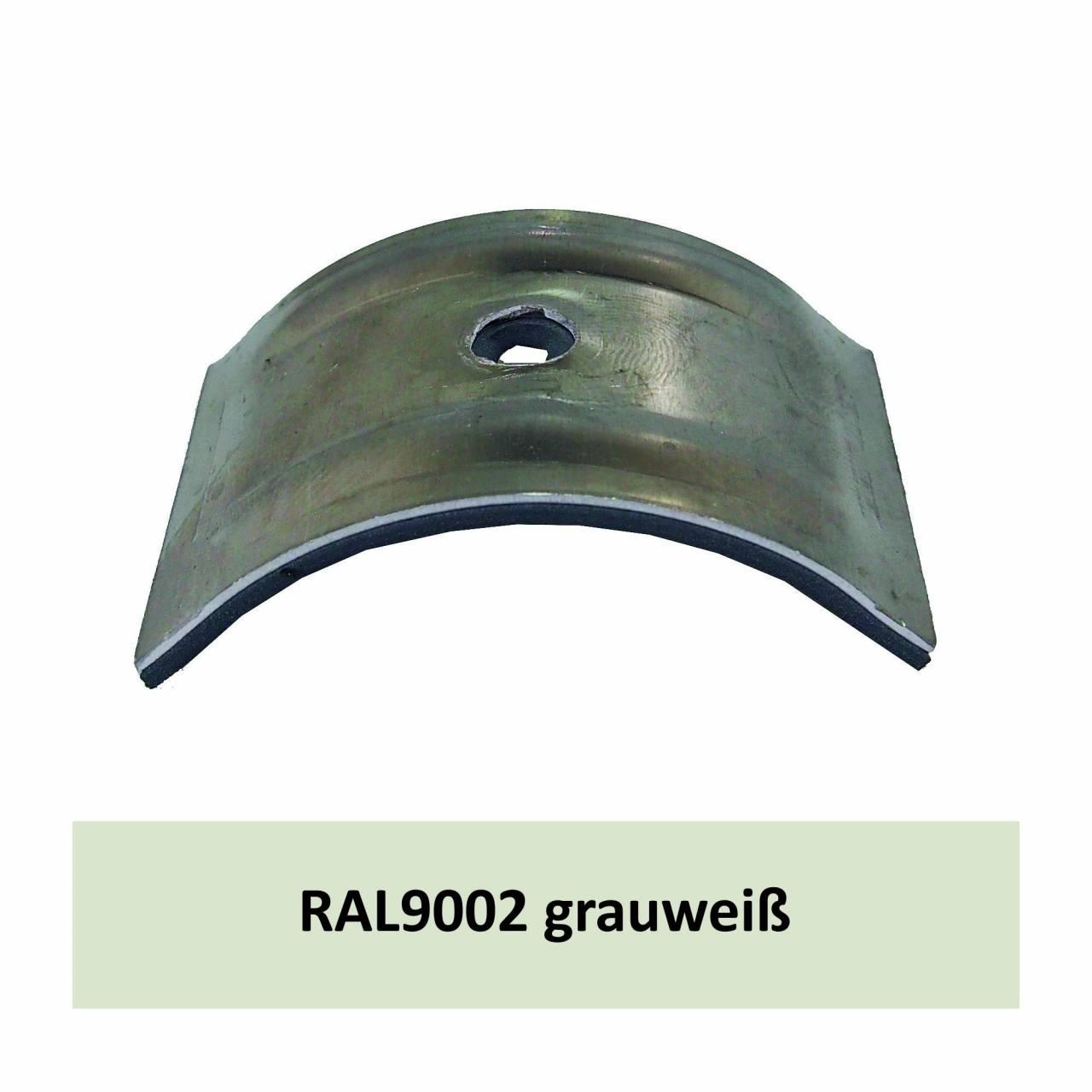 Kalotten für Welle 150/50, Alu RAL9002 grauweiß / Pck a 100 Stück