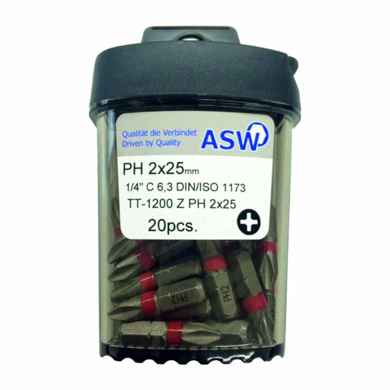Schraubklingen / Bitbox 'ASW' PH-2 / Dose a 20 Stück