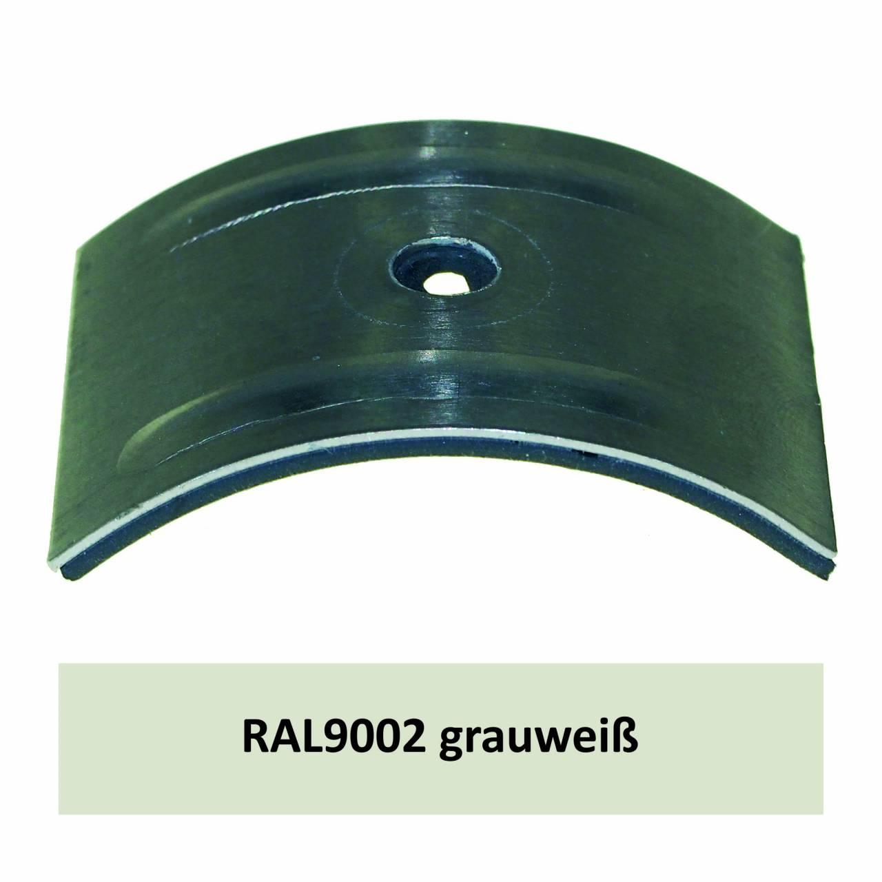Kalotten für Welle 130/30, Alu RAL9002 grauweiß / Pck a 100 Stück