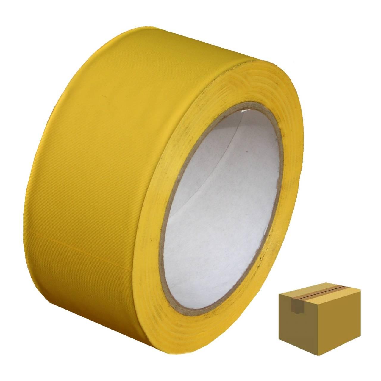 PVC-Band T005 Glatt 50 mm x 33 m gelb / Krt a 36 Rollen