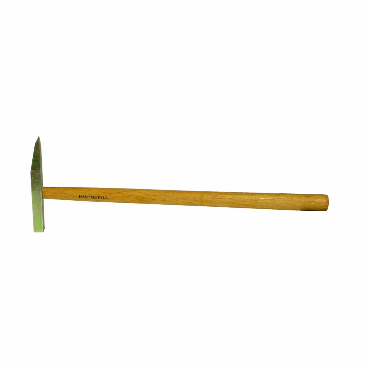 Fliesenleger-Hammer, Hartmetall, mit Holzstiel