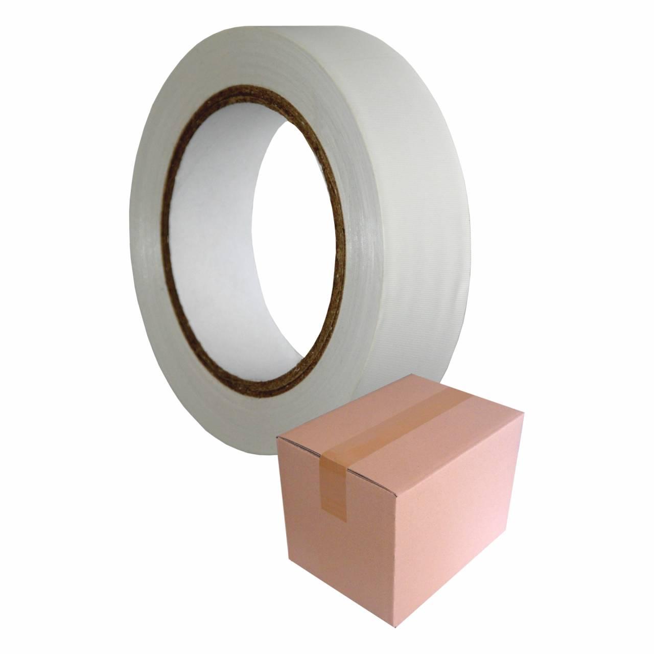 PVC-Band T505 Gerillt 75 mm x 33 m weiss / Krt a 24 Rollen