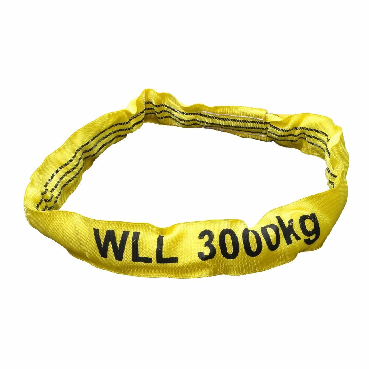 Rundschlinge gelb, Tragkraft 3000 kg, 1,0 m
