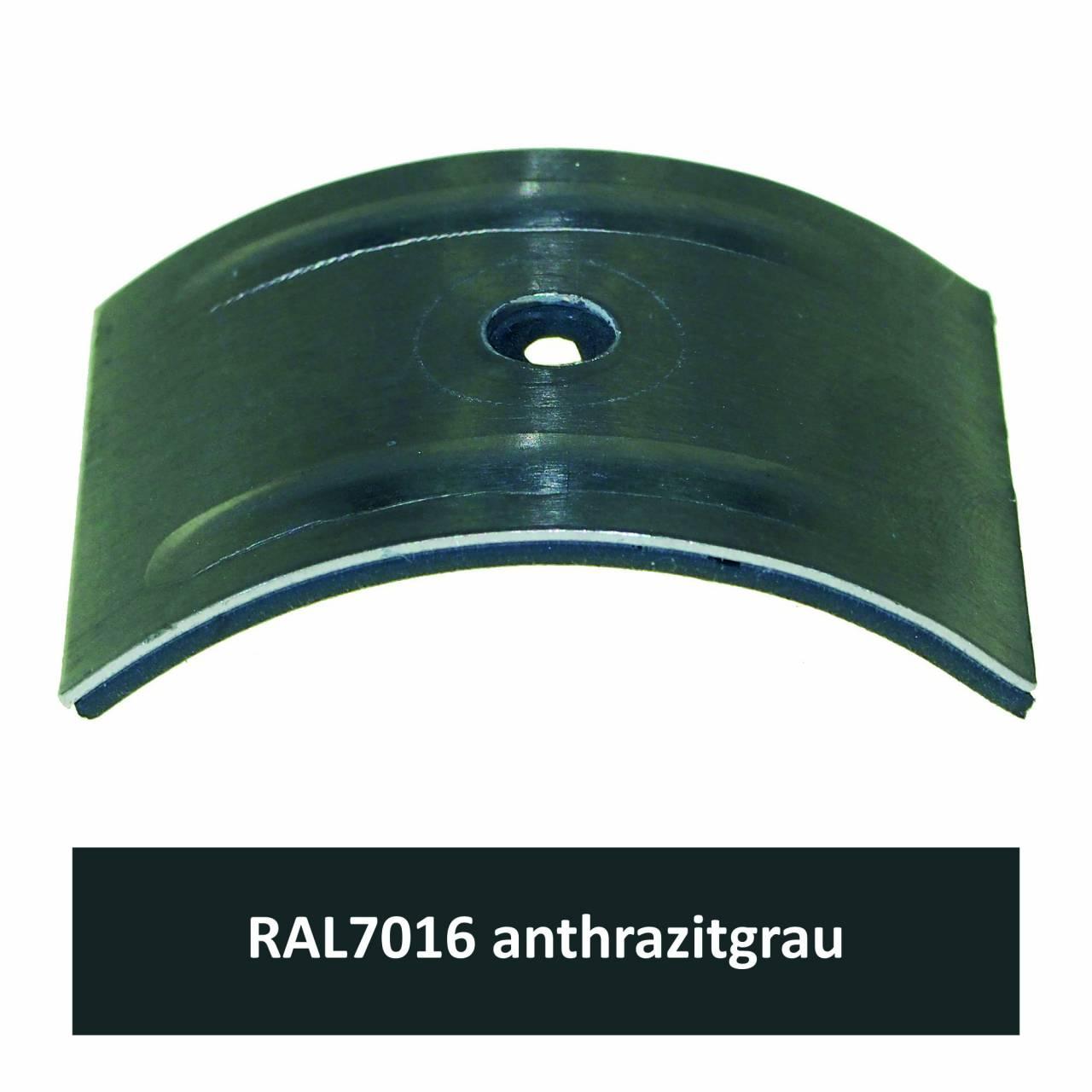 Kalotten für Welle 130/30, Alu RAL7016 anthrazitgrau / Pck a 100 Stück