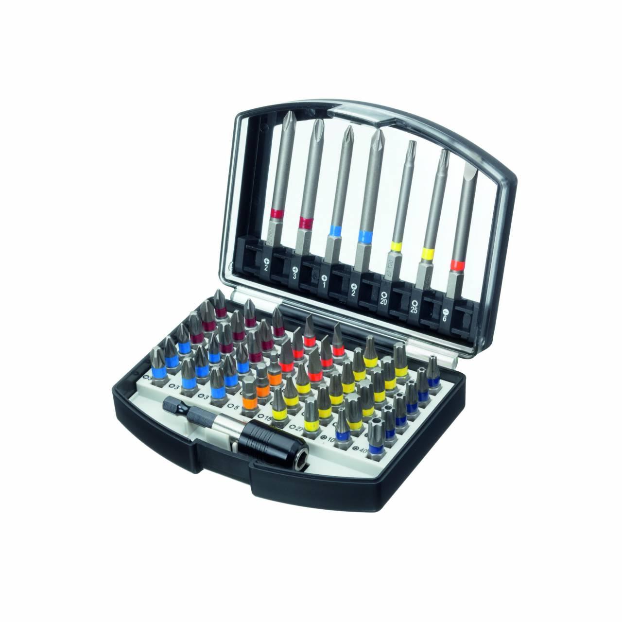 Bit-Box 'ASW' 56-teilig, Allround, inkl. Schnellwechselhalter