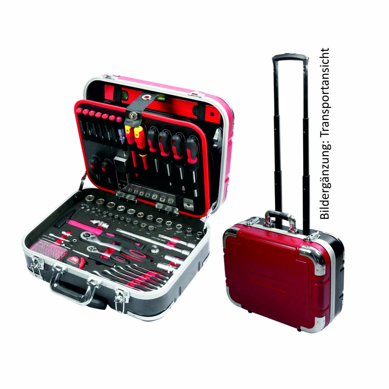 Werkzeugkoffer-Set 167-teilig, mit Trolleyfunktion