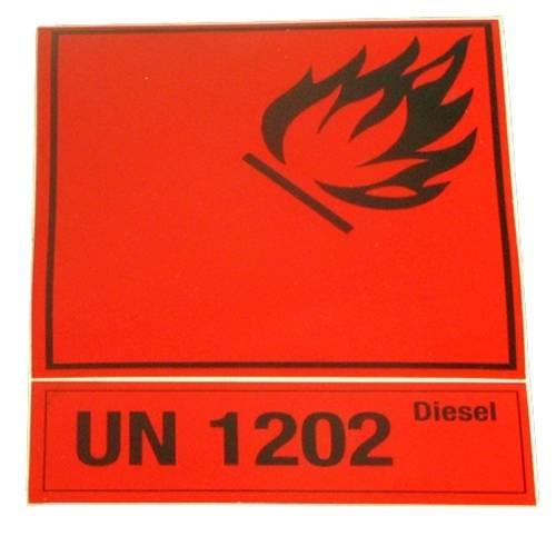 Aufkleber für Benzinkanister: 'Diesel'