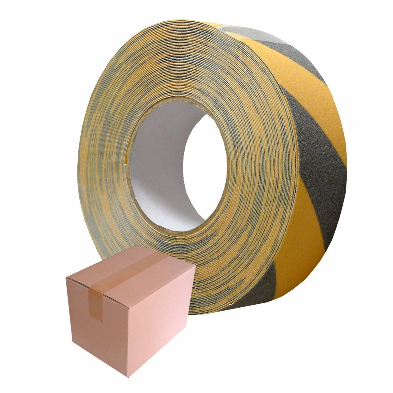 SAFETY-Tape T305 gelb-schwarz, 50 mm x 18 m / Rolle