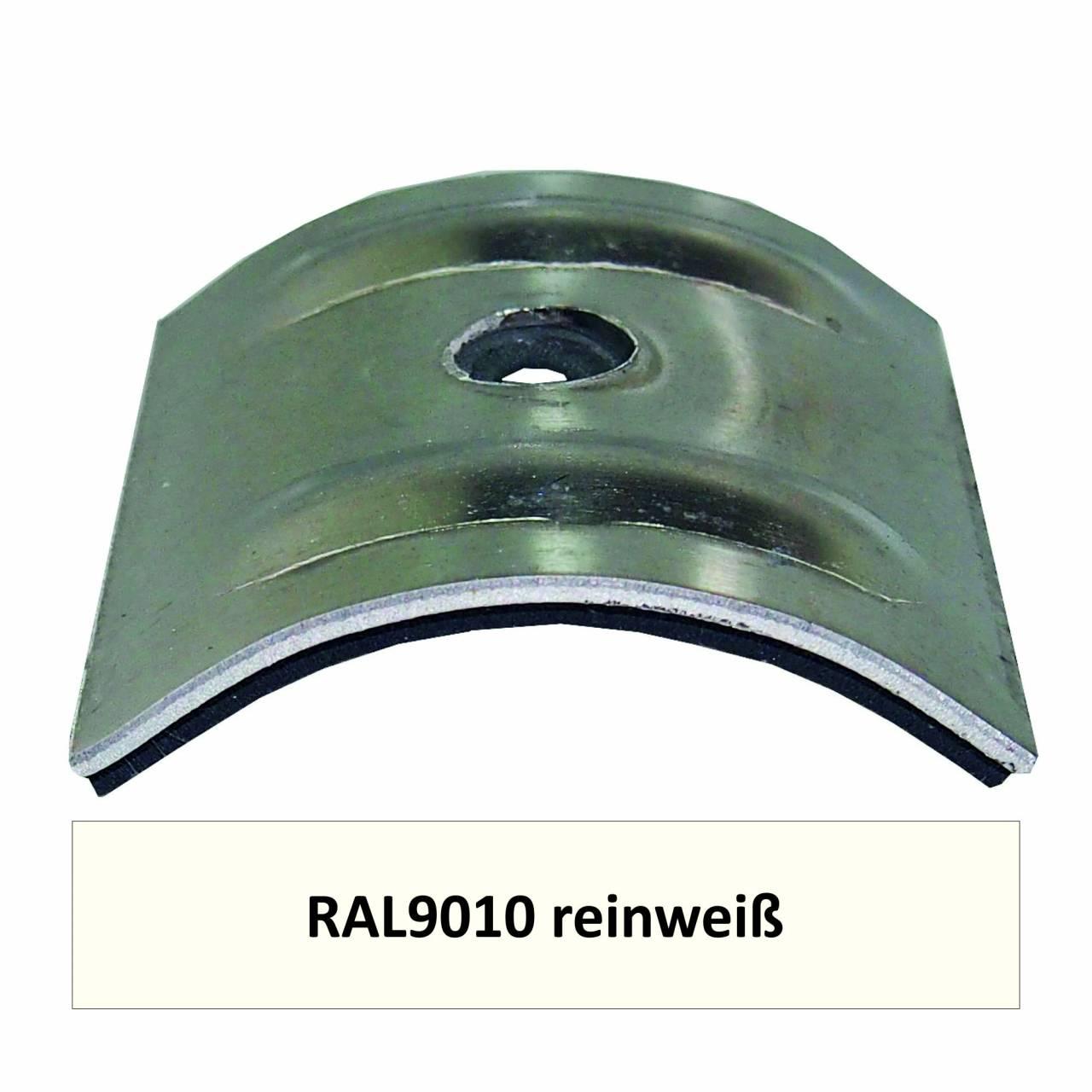 Kalotten für Welle 18/76, Alu RAL9010 reinweiß / Pck a 100 Stück