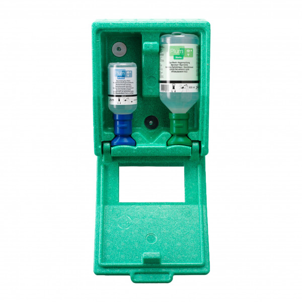 Plum® Augenspülstation / inkl je 1 Fl. 500 ml NC + 200 ml PH-Neutral